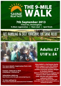 Get Rambling in East Yorkshire for Shine Relief